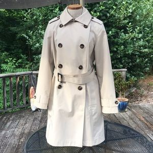LL Bean Women's Small Belted Trench Coat